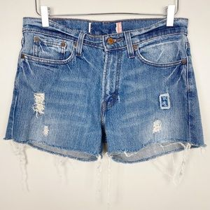 LEVI'S Distressed Denim Cutoffs S Jean Shorts